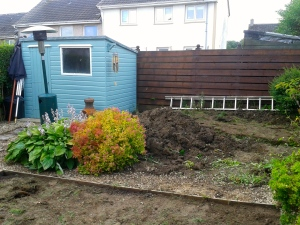 the bed at the back of the garden originally came right up to the edge of - Garden Sheds East Kilbride
